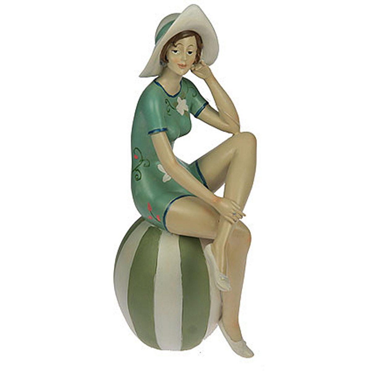 Статуэтка Русские Подарки Девушка на пляже, 15 х 11 х 30 см27559