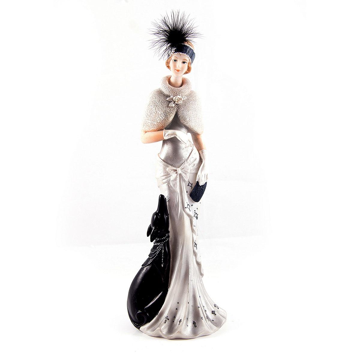 Статуэтка Русские Подарки Мисс Рандеву, 11 х 10 х 31 см27651Статуэтка Русские Подарки Мисс Рандеву, изготовленная из полистоуна, имеет изысканный внешний вид. Изделие станет прекрасным украшением интерьера гостиной, офиса или дома. Вы можете поставить статуэтку в любое место, где она будет удачно смотреться и радовать глаз. Правила ухода: регулярно вытирать пыль сухой, мягкой тканью.