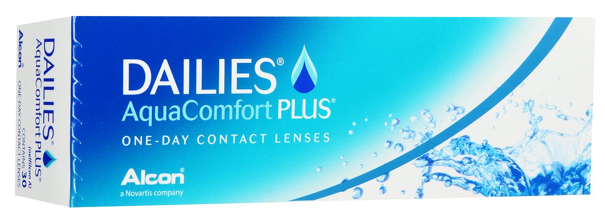 Alcon-CIBA Vision контактные линзы Dailies AquaComfort Plus (30шт / 8.7 / 14.0 / -5.75)38460Dailies AquaComfort Plus - это одни из самых популярных однодневных линз производства компании Ciba Vision. Эти линзы пользуются огромной популярностью во всем мире и являются на сегодняшний день самыми безопасными контактными линзами. Изготавливаются линзы из современного, 100% безопасного материала нелфилкон А. Особенность этого материала в том, что он легко пропускает воздух и хорошо сохраняет влагу. Однодневные контактные линзы Dailies AquaComfort Plus не нуждаются в дополнительном уходе и затратах, каждый день вы надеваете свежую пару линз. Дизайн линзы биосовместимый, что гарантирует безупречный комфорт. Самое главное достоинство Dailies AquaComfort Plus - это их уникальная система увлажнения. Благодаря этой разработке линзы увлажняются тремя различными агентами. Первый компонент, ухаживающий за линзами, находится в растворе, он как бы обволакивает линзу, обеспечивая чрезвычайно комфортное надевание. Второй агент выделяется на протяжении всего дня, он...