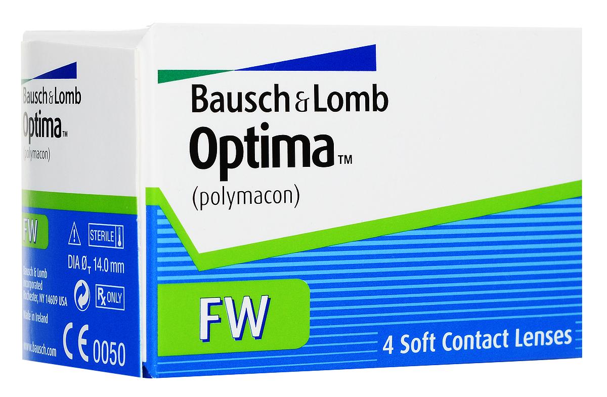 Bausch + Lomb контактные линзы Optima FW (4шт / 8.4 / -4.00)06661Контактные линзы Optima FW производства компании Bausch&Lomb выпускаются уже долгое время и на сегодня являются одними из самых популярных благодаря непревзойденному комфорту. Мягкие гидрогелевые линзы Optima FW изготавливаются из материала полимакон комбинированным способом. Особенность такого процесса заключается в том, что наружная поверхность линз формируется полимеризацией, а внутренняя производится точением. Благодаря этому линза имеет идеальную посадку и остается на глазу совершенно незамеченной. Толщина линзы Optima FW с оптической силой -3,00 составляет 0,035 мм в центре, что обеспечивает хорошее пропускание кислорода к роговице, как следствие - комфортность ношения линз. Плюсовые контактные линзы Optima FW значительно толще - 0,26 мм. Оптическая зона линз - 8 миллиметров. Контактные линзы Optima FW не меняют цвет глаз, но имеют тонировку, предназначенную для простоты операций снятия и надевания линз. Для облегчения манипуляций с линзами их снабжают...