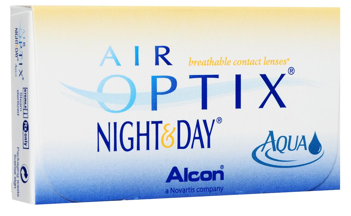 Alcon-CIBA Vision контактные линзы Air Optix Night & Day Aqua (3шт / 8.4 / -4.50)44358Само название линз Air Optix Night & Day Aqua говорит само за себя - это возможность использования одной пары линз 24 часа в сутки на протяжении целого месяца! Это уникальные линзы от мирового производителя Сiba Vision, не имеющие аналогов. Их неоспоримым преимуществом является отсутствие необходимости очищения и ухода за линзами. Линзы рассчитаны на непрерывный график ношения. Изготовлены из современного биосовместимого материала лотрафилкон А, который имеет очень высокий коэффициент пропускания кислорода, обеспечивая его доступ даже во время сна. Наивысшее пропускание кислорода! Кислородопроницаемость контактных линз Air Optix Night & Day Aqua - 175 Dk/t. Это более чем в 6 раз больше, чем у ближайших конкурентов. Еще одно отличие линз Air Optix Night & Day Aqua - их асферический дизайн. Множественные клинические исследования доказали, что поверхность линз устраняет асферические аберрации, что позволяет вам видеть более четко и повышает остроту зрения. Ежемесячные...