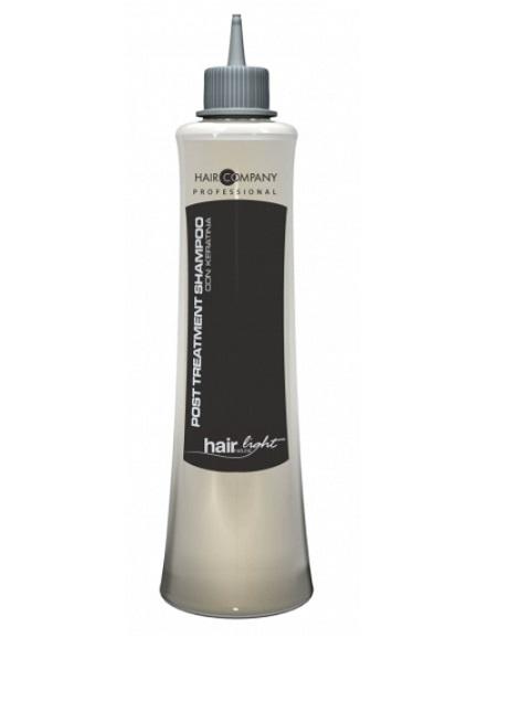 Hair Company Шампунь увлажняющий для волос Hair Light Post Treatment Shampoo 500 мл251789/LB11407 RUSШампунь увлажняющий Hair Company Hair Light Post Treatment Shampoo на основе кератина с увлажняющими свойствами. Благодаря кислому уровню рН сглаживает чешуйки волос, избегая преждевременного смывания питмента. После химической завивки, выпрямления и окрашивания, помогает волосам восстановить необходимый водный баланс, используется в качестве ухода за поврежденными волосами. Содержит кератиновые протеины и кукурузный крахмал.