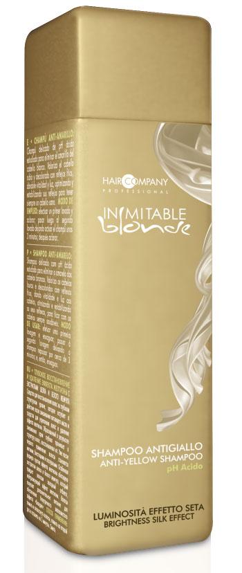 Hair Company Шампунь анти-желтый Inimitable Blonde Anti-Yellow Shampoo 250 мл (Hair Company Professional)