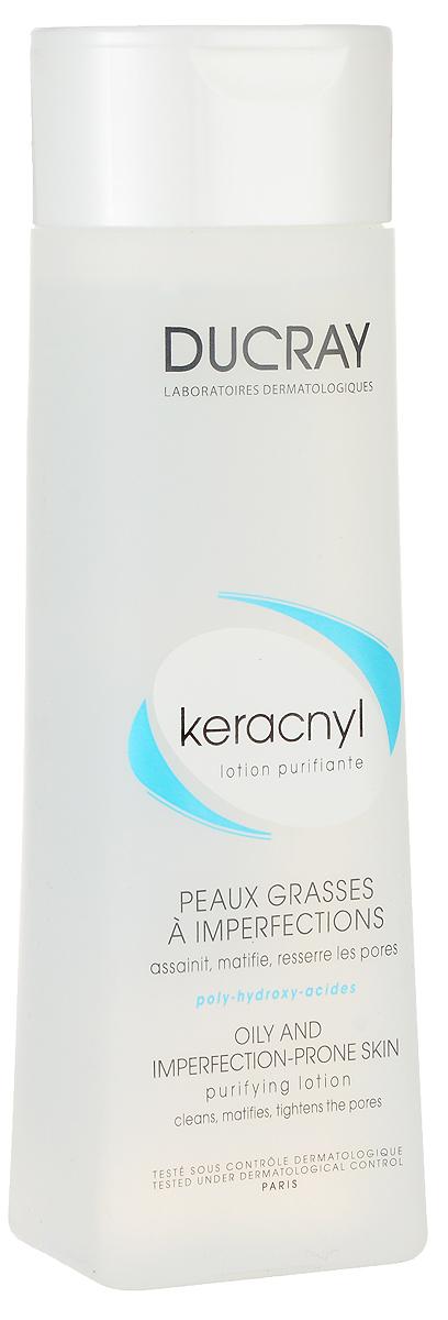Ducray Очищающий лосьон Keracnyl 200 млC18624Новая совершенная формула для жирной проблемной кожи. Очищает жирную кожу с тенденцией к акне, придает коже матовость, регулирует появление блеска, сужает поры. Тщательно очищает жирную кожу. Сужает поры