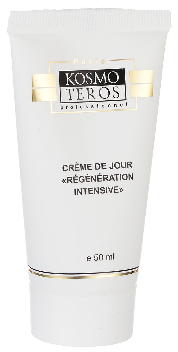 Kosmoteros Дневной регенерирующий крем Creme Regenerante de Jour - 50 мл5002Эффективно омолаживающий крем активно стимулирует процессы клеточной регенерации и восстановления структуры кожи, препятствуя преждевременным возрастным изменениям. Глубоко увлажняет кожу и поддерживает её гидролипидный баланс. Крем эффективно защищает кожу в течение всего дня, активно противодействуя факторам преждевременного старения (УФ-излучение, свободные радикалы, загрязнения окружающей среды). Основные активные компоненты: Hyasealon 1, 2%, Matrixyl2, 5%, Matrixil®3000, масло ши, витамин Е. Показания к применению: для любого типа кожи с возрастными изменениями.