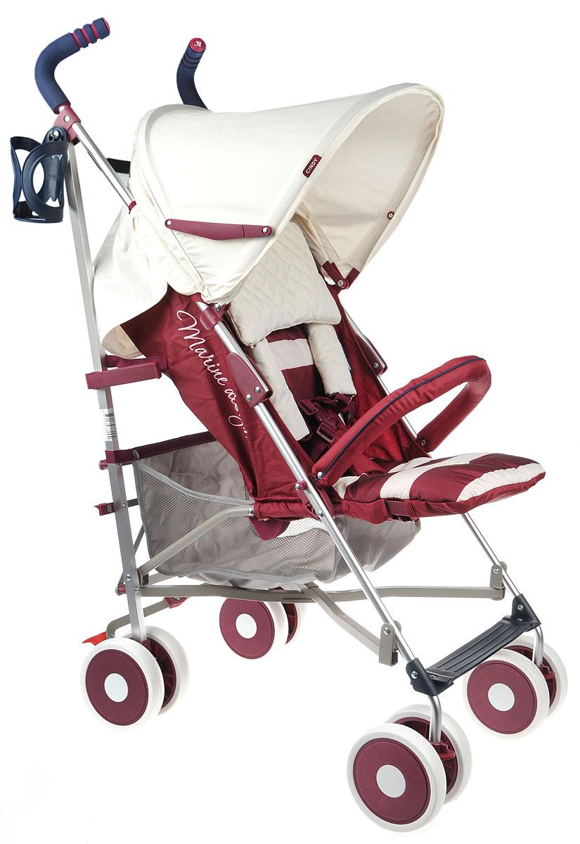 Happy Baby Коляска прогулочная Cindy Maroon (без разделителя для ног)4650069782452Прогулочка коляска без разделителя для ног Happy Baby Cindy Brown имеет оригинальный дизайн и высокую функциональность. Пятиточечные ремни имеют мягкие накладки, надежно и комфортно удерживая малыша в удобном для него положении. Козырек коляски можно при необходимости опустить низко, до самого бампера, что защитит ребенка от осадков и солнечного света. Также модель комплектуется практичным подстаканником для хранения бутылочек, москитной сеткой и удобным дождевиком. Маневренность изделию придают поворотные сдвоенные колеса, а зафиксировать конструкцию в одном положении поможет расположенная на задних колесах тормозная система. Обивка является дышащей, что позволит малышу даже в изнуряющую жару чувствовать себя комфортно. Ткань мягкая и грязеотталкивающая, ее легко протирать обычными губками. В сложенном виде коляска очень компактная и легкая, ее удобно взять с собой в любую поездку.
