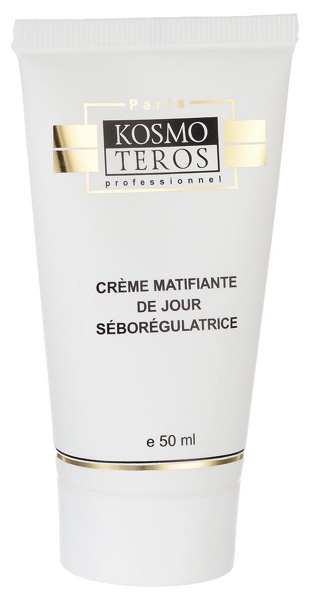 Kosmoteros Дневной матирующий крем- себорегулятор Creme de Jour Matifiant Sebo Regulateur - 50 мл5019Обеспечивает комплексный уход за жирной кожей и кожей с угревыми высыпаниями различной этиологии, противодействуя всем причинам, вызывающим угри – повышенному салоотделению, гиперкаратозу, росту бактерий, локальным высыпаниям. Поддерживает необходимый уровень увлажнения кожи, восстанавливая гидратацию дермы, cохраняет матовость кожи в течении всего дня, кожа не блестит, поры сужены, кожа выглядит гладкой и подтянутой. Основные активные компоненты: Hyasealon 1, 2%, Acnet 4, 0%, Matipure 2, 0%, масло ши, витамин Е. Показания к применению: для ухода за жирной, проблемной и склонной к акне кожей. Великолепная база под макияж.