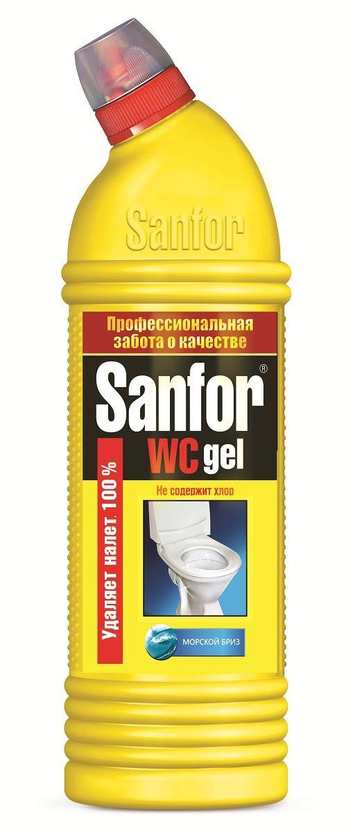 Средство для чистки и дезинфекции Sanfor WC Gel, морской бриз, 750 мл4602984002764Средство санитарно-гигиеническое Sanfor WC гель, морской бриз. Идеально растворяет водный и мочевой камень и препятствует его образованию в унитазах, удаляет ржавчину и другие трудные загрязнения в туалете на длительное время. Санфор WC можно использовать в ванной комнате и на кухне для удаления жировых пятен, плесени, мыльных потеков. Благодаря загущенной формуле равномерно распределяется и не стекает с наклонных поверхностей. Обеспечивает свежий запах. Подходит для уборки и дезинфекции туалетов для животных. Убивает микробы за 5 минут. Не содержит ХЛОР, при этом специальная формула гарантирует хорошие чистящие и дезинфицирующие свойства. Обладает антимикробными* свойствами. Способ применения: Унитазы – нанести средство под ободок и распределить внутри унитаза, выдержать не более 10 мин, почистить и смыть водой. При необходимости обработку повторить. Фаянсовые раковины – обработать средством и смыть водой. Полы (плитка, линолеум), сантехническая арматура, пластмасса – мыть...