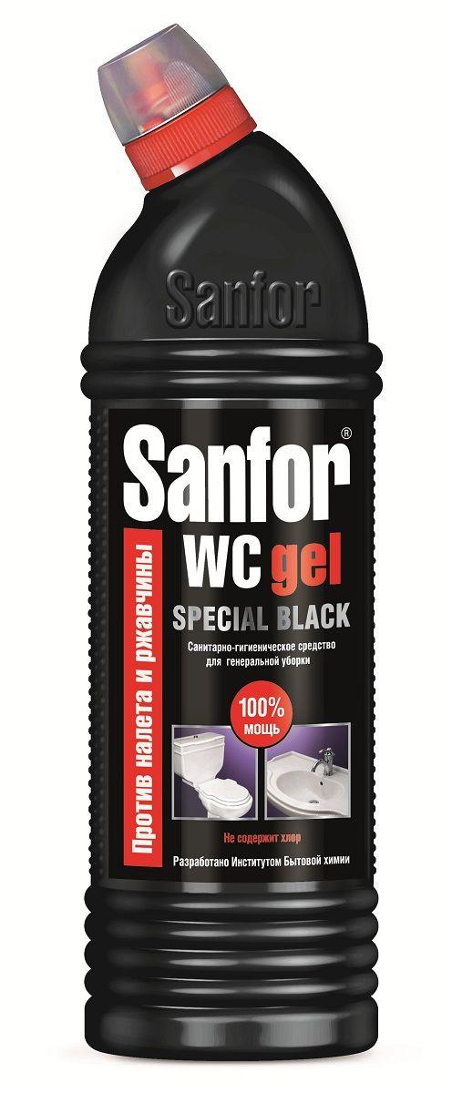 Средство для чистки и дезинфекции Sanfor WC Gel, 750 мл4602984004614Средство санитарно-гигиеническое Sanfor WC гель, special black. Безупречно устраняет известковый налет и препятствует его образованию в унитазах, удаляет ржавчину, а также легко очищает поверхность от жировых пятен, плесени, мыльных потеков. Благодаря густой формуле равномерно распределяется и не стекает с наклонных поверхностей. Действует даже под водой! Обеспечивает свежий запах. Походит для уборки и дезинфекции туалетов для животных. Обладает антимикробными свойствами. Способ применения: Унитазы – нанести средство под ободок и распределить внутри унитаза, выдержать не более 10 мин, почистить и смыть водой. При необходимости обработку повторить. Фаянсовые раковины – обработать средством и смыть водой. Полы (плитка, линолеум), сантехническая арматура, пластмасса – мыть раствором 2-3 колпачка средства на 1 л воды. Состав: >5%, но <15%: АПАВ, кислота щавелевая; <5%: краситель, ароматизирующая добавка.