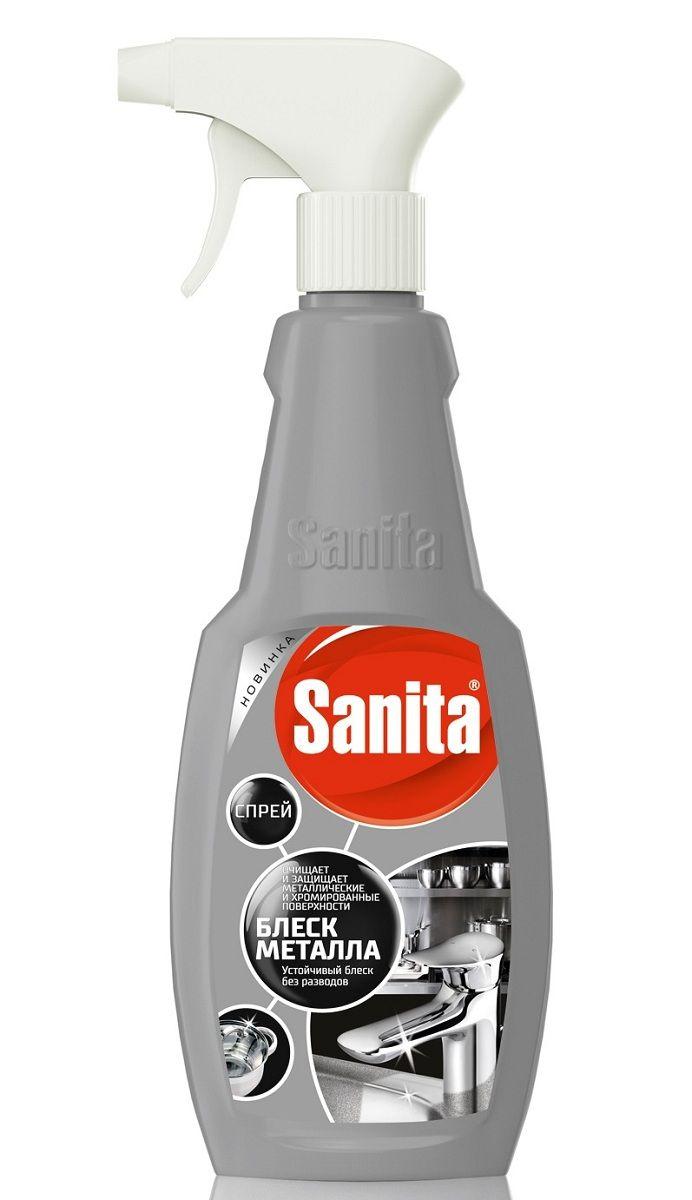 Чистящее средство Sanita Блеск металла, 500 мл4602984010424Средство предназначено для чистки и бережного ухода за поверхностями из нержавеющей стали: кранами, вытяжными шкафами и прочими поверхностями. Удаляет известковый налет, грязь, жировые загрязнения, придает сияние и блеск. Средство хорошо смывается и не оставляет разводов после высыхания. Способ применения: Распылить средство на поверхность, выдержать 5-15 мин и смыть водой. Состав: ? 5 %, но < 15 % кислота лимонная, < 5 % АПАВ, < 5 %: НПАВ, краситель, ароматизирующая добавка.