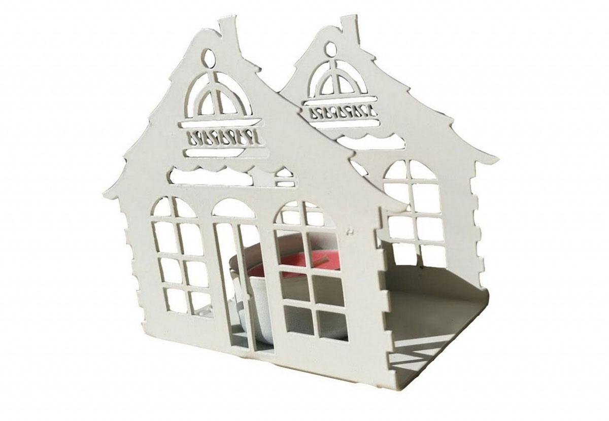Подсвечник Gala, цвет: белый, 9,2 х 10,9 х 5,7 смPS009-WПодсвечник в форме домика станет прекрасным украшением вашего дома. Предназначен для свечи диаметром 4,5 см.