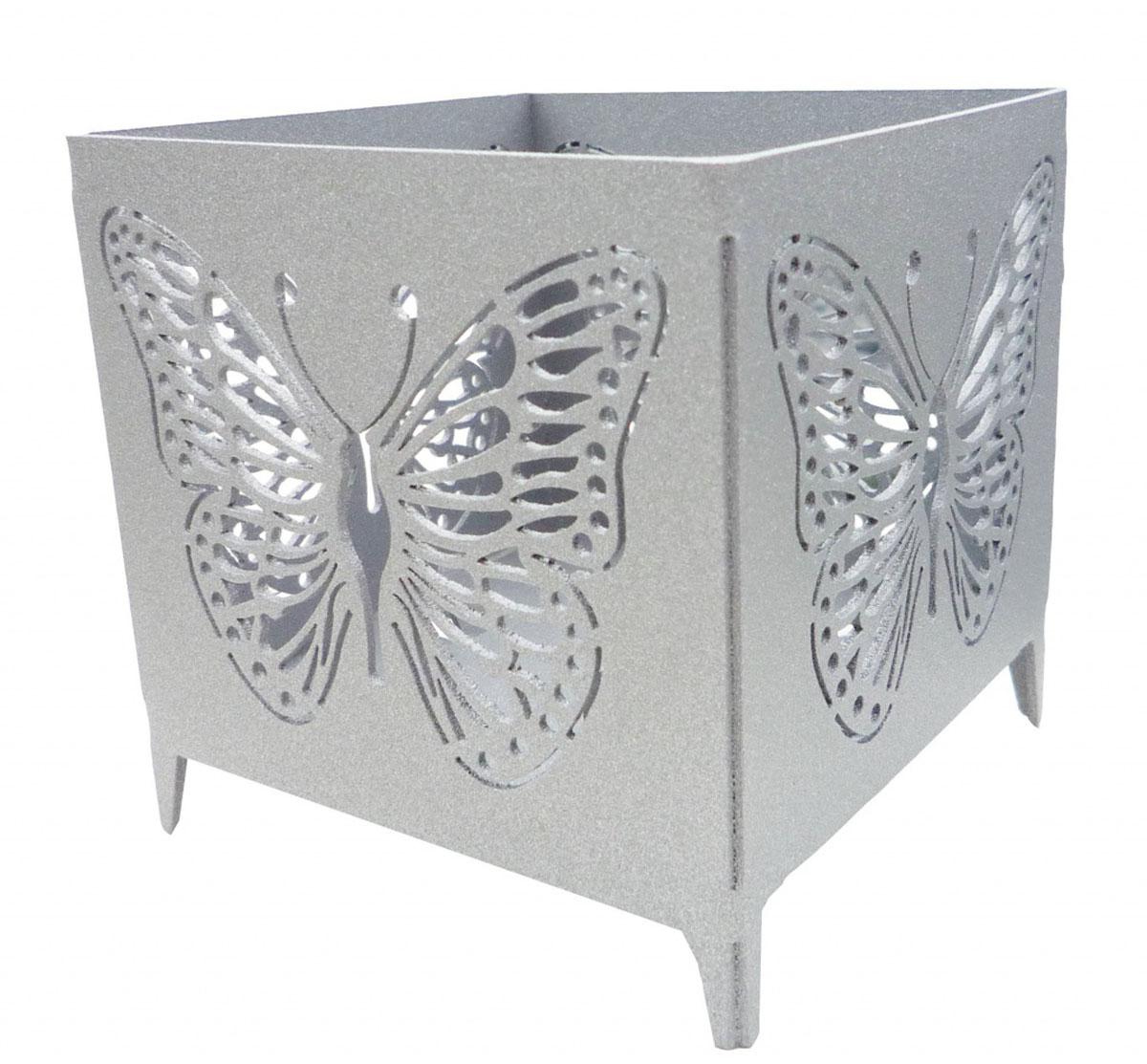 Подсвечник Gala, цвет: серебряный, 7 х 7 х 7 смPS013-SПодсвечник станет прекрасным украшением вашего дома. Украшен перфорацией в форме бабочки