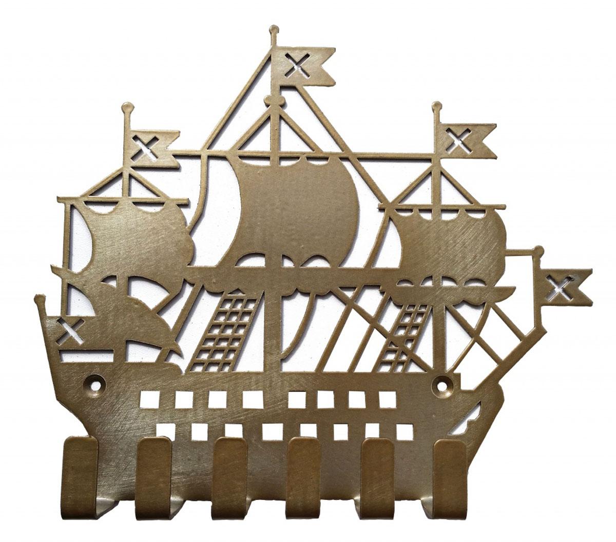 Ключница Gala, цвет: золотой, 20,5 х 18,3 смKL002-GОригинальная ключница в виде фрегата станет прекрасным украшением вашего дома.