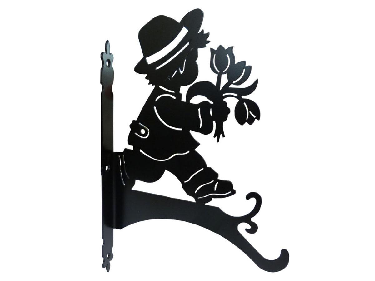 Держатель для кашпо Gala, цвет: черный. DK003-BDK003-BОригинальный держатель для кашпо Gala, изготовленный из металла в виде оригинальной фигурки, станет прекрасным украшением вашего сада. С его помощью вы сможете расположить корзину с цветами в любом удобном месте: на даче, участке, на городском балконе и в других местах. Такой держатель с годами не потеряет своей привлекательности. Он послужит настоящим украшением и необычным элементом дизайна. Размер держателя (ДхШ): 23,6 х 30 см.