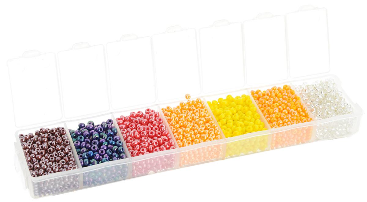 Набор бисера Preciosa Ассорти №28, 7 цветов, 90 г7704343_28Набор бисера Preciosa Ассорти №28 позволит вам своими руками создать оригинальные ожерелья, бусы или браслеты, а также заняться вышиванием. В бисероплетении часто используют бисер разных размеров и цветов. Он идеально подойдет для вышивания на предметах быта и женской одежде. Набор включает в себя бисер разных размеров и цветов: прозрачного, оранжевого, желтого, малинового, фиолетового, сиреневого, персикового. Предметы набора упакованы в пластиковую коробочку с семью отсеками. Изготовление украшений - занимательное хобби и реализация творческих способностей рукодельницы, это возможность создания неповторимого индивидуального подарка.