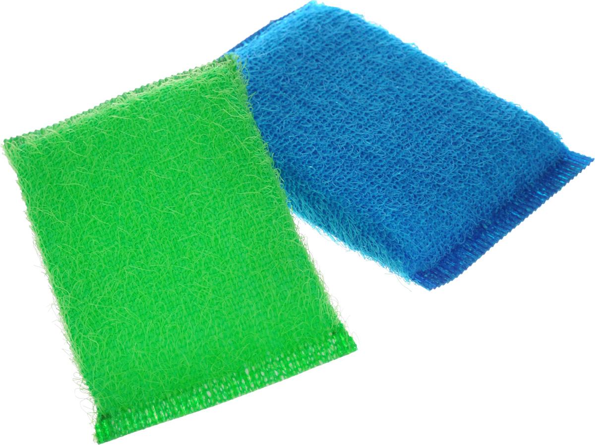 Губка для мытья посуды Хозяюшка Мила Кактус, цвет: зеленый, синий, 2 шт01008-160_зеленый, синийНабор Хозяюшка Мила Кактус состоит из 2 губок, изготовленных из поролона. Они предназначены для интенсивной чистки и удаления сильных загрязнений с посуды (противни, решетки-гриль, кастрюли). Не рекомендуется использовать для посуды с антипригарным покрытием. Губки сохраняют чистоту и свежесть даже после многократного применения, а их эргономичная форма удобна для руки. Размер губки: 12 х 2 х 8 см.