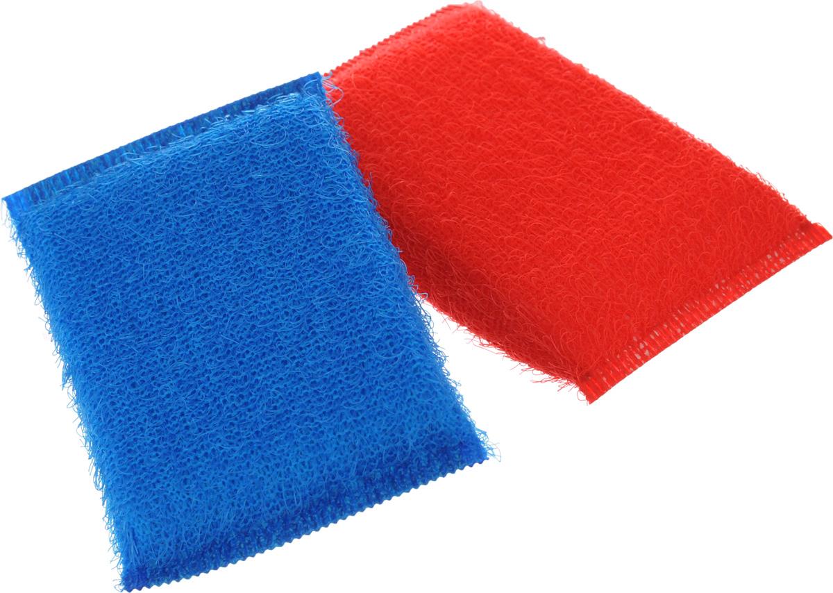 Губка для мытья посуды Хозяюшка Мила Кактус, цвет: красный, синий, 2 шт01008-160_красный, синийНабор Хозяюшка Мила Кактус состоит из 2 губок, изготовленных из поролона. Они предназначены для интенсивной чистки и удаления сильных загрязнений с посуды (противни, решетки-гриль, кастрюли). Не рекомендуется использовать для посуды с антипригарным покрытием. Губки сохраняют чистоту и свежесть даже после многократного применения, а их эргономичная форма удобна для руки. Размер губки: 12 х 2 х 8 см.