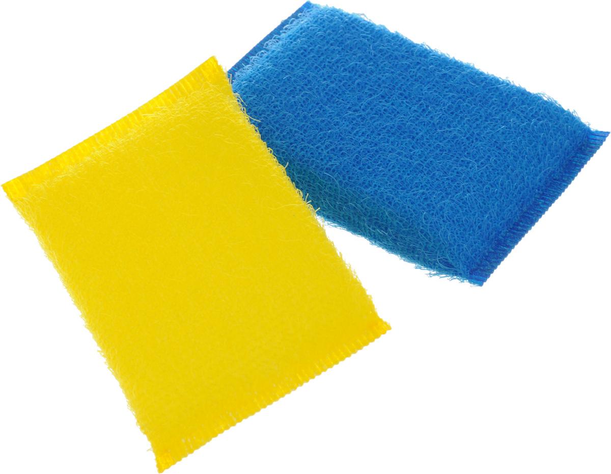 Губка для мытья посуды Хозяюшка Мила Кактус, цвет: желтый, синий, 2 шт01008-160_желтый, синийНабор Хозяюшка Мила Кактус состоит из 2 губок, изготовленных из поролона. Они предназначены для интенсивной чистки и удаления сильных загрязнений с посуды (противни, решетки-гриль, кастрюли). Не рекомендуется использовать для посуды с антипригарным покрытием. Губки сохраняют чистоту и свежесть даже после многократного применения, а их эргономичная форма удобна для руки. Размер губки: 12 х 2 х 8 см.