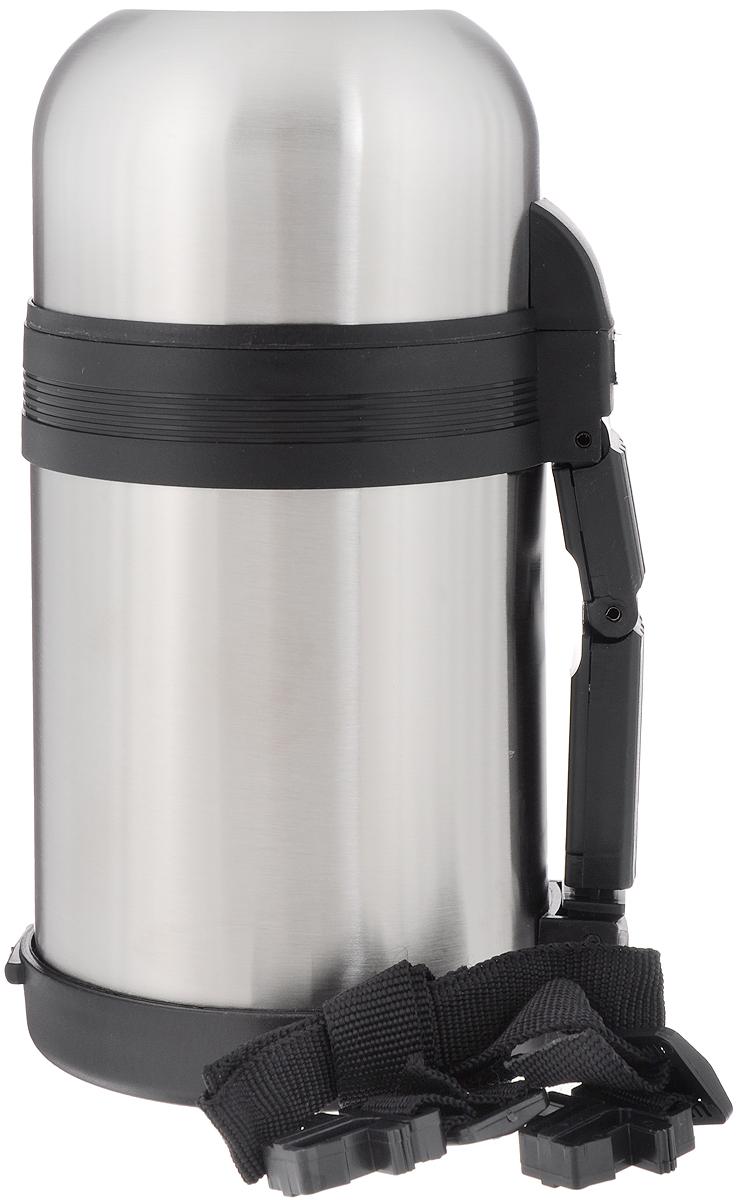 Термос Добрыня, с широким горлом, 800 млDO - 1822Термос с широким горлом Добрыня, изготовленный из высококачественной нержавеющей стали 18/10, прост в использовании и многофункционален. Изделие имеет двойные стенки, что позволяет содержимому долго оставаться горячим или холодным. Термос снабжен удобной ручкой, крышкой-чашкой. Для удобной переноски предусмотрен специальный ремешок. Термос сохраняет температуру горячих или холодных продуктов до 24 часов. Не рекомендуется мыть в посудомоечной машине. Высота (с учетом крышки): 21,5 см. Диаметр горлышка: 7 см. Диаметр чашек: 9,5 см; 10,5 см. Высота чашек: 4 см; 6,5 см.