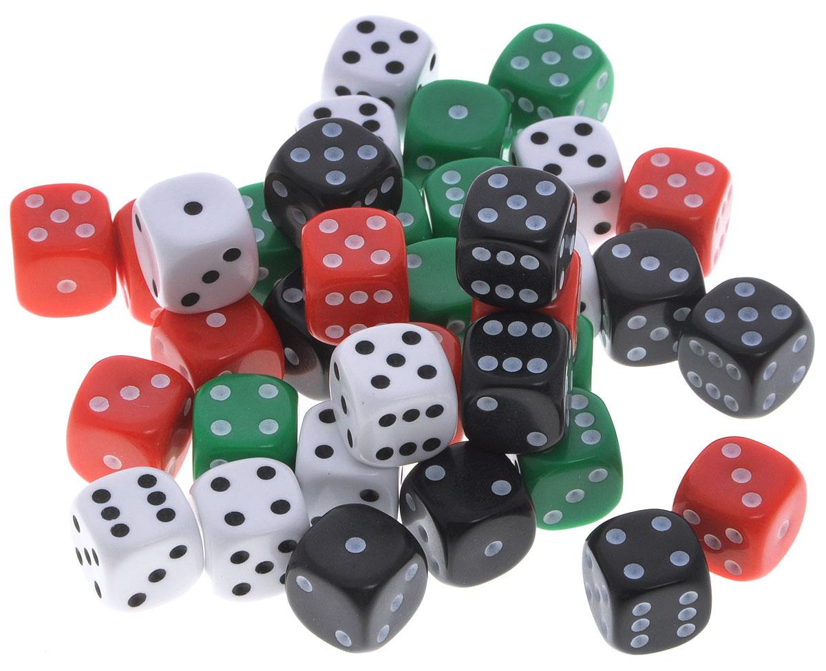 Koplow Games Набор игральных костей Простые D6 36 шт 18261826_белый, чёрный, красный, зелёныйНабор игральных костей Koplow Games Простые D6 предназначен для настольных игр. Набор состоит из 36 шестигранных костей, на каждую грань которых нанесены точки от 1 до 6. Целью игральной кости является демонстрация случайно определенного целого числа от одного до шести, каждое из которых является равновозможным благодаря правильной геометрической форме. Набор содержит кубики черного, белого, красного и зеленого цветов. Игральные кости выполнены из прочного пластика.
