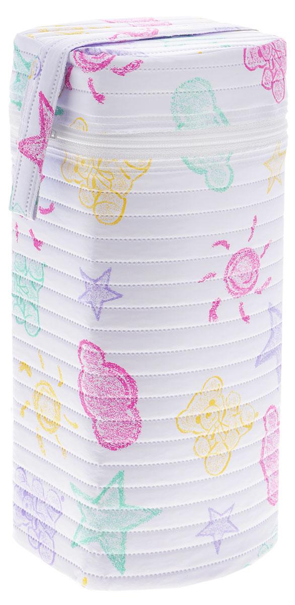Canpol Babies Термоконтейнер для фигурной бутылочки цвет белый розовый зеленый