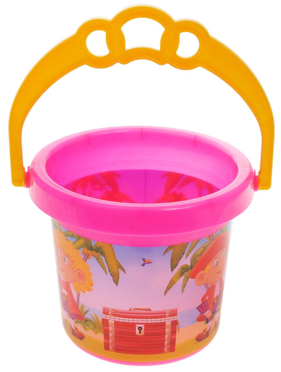 Stellar Ведро Палитра Пираты цвет розовый 0,8 л1284_розовыйДетское ведерко Stellar Палитра. Пираты привлечет внимание вашего ребенка и станет незаменимым аксессуаром его игр в песочнице. Ведро выполнено из безопасного материала и декорировано ярким рисунком. С помощью ведерка ребенок сможет переносить песок и воду, лепить замки и многое другое. С таким аксессуаром игры на свежем воздухе принесут вашему малышу одно удовольствие! Объем ведра: 0,8 л.