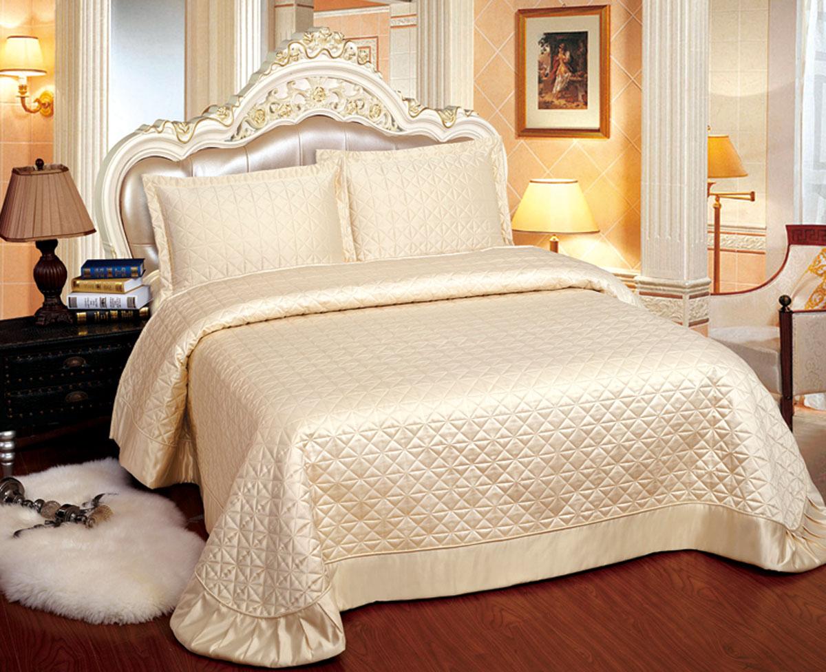 Комплект для спальни Arya Adreanna: покрывало 250 х 260 см, 2 наволочки 50 х 70 см, цвет: бежевыйTR1001094Изысканный комплект для спальни Arya Adreanna состоит из покрывала и двух наволочек. Изделия выполнены из высококачественного полиэстера, легкие, прочные и износостойкие. Ткань матовая, что придает ей очень большое сходство с хлопком. Комплект Arya Adreanna - это отличный способ придать спальне уют и комфорт. Размер покрывала: 250 х 260 см. Размер наволочки: 50 х 70 см.