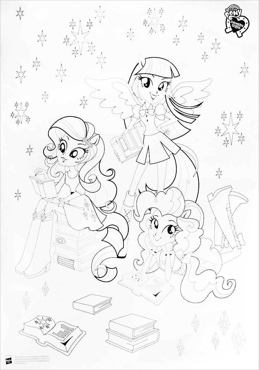 My Little Pony Раскраска напольная Искорка Пинки Пай РаритиEGCA-UA2-FCL710Раскраска напольная My Little Pony Искорка. Пинки Пай. Рарити - прекрасное и занимательное развлечение как для одного ребенка, так и для компании друзей. Раскрашивание развивает мелкую моторику, тренирует навыки рисования, приучает к точности и аккуратности, воспитывает терпение, внимательность, старательность. Размер раскраски: 840 мм х 585 мм.