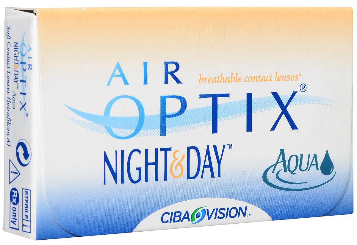 Alcon-CIBA Vision контактные линзы Air Optix Night & Day Aqua (3шт / 8.4 / -5.25)44361Само название линз Air Optix Night & Day Aqua говорит само за себя - это возможность использования одной пары линз 24 часа в сутки на протяжении целого месяца! Это уникальные линзы от мирового производителя Сiba Vision, не имеющие аналогов. Их неоспоримым преимуществом является отсутствие необходимости очищения и ухода за линзами. Линзы рассчитаны на непрерывный график ношения. Изготовлены из современного биосовместимого материала лотрафилкон А, который имеет очень высокий коэффициент пропускания кислорода, обеспечивая его доступ даже во время сна. Наивысшее пропускание кислорода! Кислородопроницаемость контактных линз Air Optix Night & Day Aqua - 175 Dk/t. Это более чем в 6 раз больше, чем у ближайших конкурентов. Еще одно отличие линз Air Optix Night & Day Aqua - их асферический дизайн. Множественные клинические исследования доказали, что поверхность линз устраняет асферические аберрации, что позволяет вам видеть более четко и повышает остроту зрения. Ежемесячные...