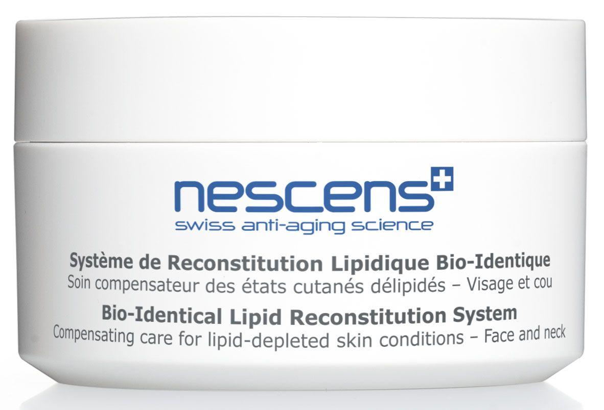 Nescens Крем для сухой кожи Липидорегулирующий комплекс, 50 млNS00113Компенсирующий уход при недостатке кожных липидов для лица и шеи. Эксклюзивная косметическая формула Крема для сухой кожи «Липидорегулирующий комплекс» способствует восстановлению липидных структур, объема и комфортного состояния очень сухой кожи. Богатейшие активные ингредиенты крема идеально проникают сквозь верхние слои эпидермиса, обеспечивая длительное действие. Восполнение недостатка физиологических липидов восстанавливает плотность, объем и эластичность кожи, возвращает ее молодой вид. Поверхность кожи становится более гладкой и шелковистой, она обретает сияющий вид. Полезные космецевтические свойства: содействует удерживанию молекул воды на уровне базального слоя эпидермиса и глубокую, длительную регидратацию уже после первого нанесения крема, усиливает когезию (сцепление) корнеоцитов, повышает плотность упаковки липидных структур, рогового слоя, способствуя уменьшению межклеточного пространства и укреплению кожного барьера, улучшает механические характеристики кожи...