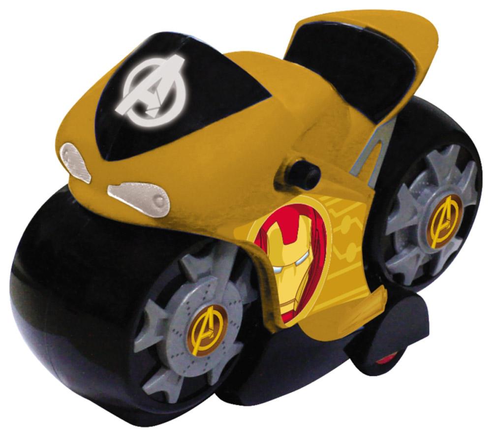 Avengers Мотоцикл инерционный цвет желтый5073_желтыйМотоцикл супергероев из вселенной Мстители! На лобовом стекле мотоцикла и на дисках колёс нанесён логотип «Мстителей», на бортах эмблема супергероя. Мотоцикл изготовлен из высококачественного прочного пластика и принесет ребёнку массу удовольствия во время игры. Световые эффекты.