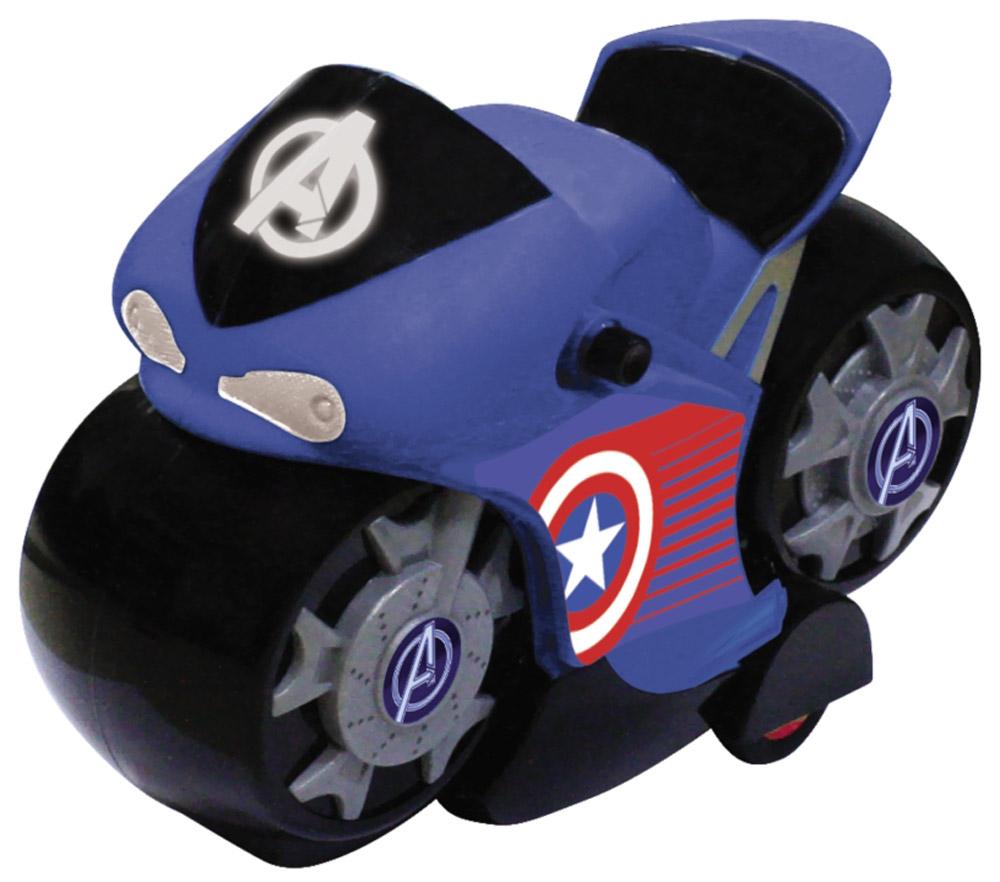 Avengers Мотоцикл инерционный цвет синий5073_синийМотоцикл супергероев из вселенной Мстители! На лобовом стекле мотоцикла и на дисках колёс нанесён логотип «Мстителей», на бортах эмблема супергероя. Мотоцикл изготовлен из высококачественного прочного пластика и принесет ребёнку массу удовольствия во время игры. Световые эффекты.