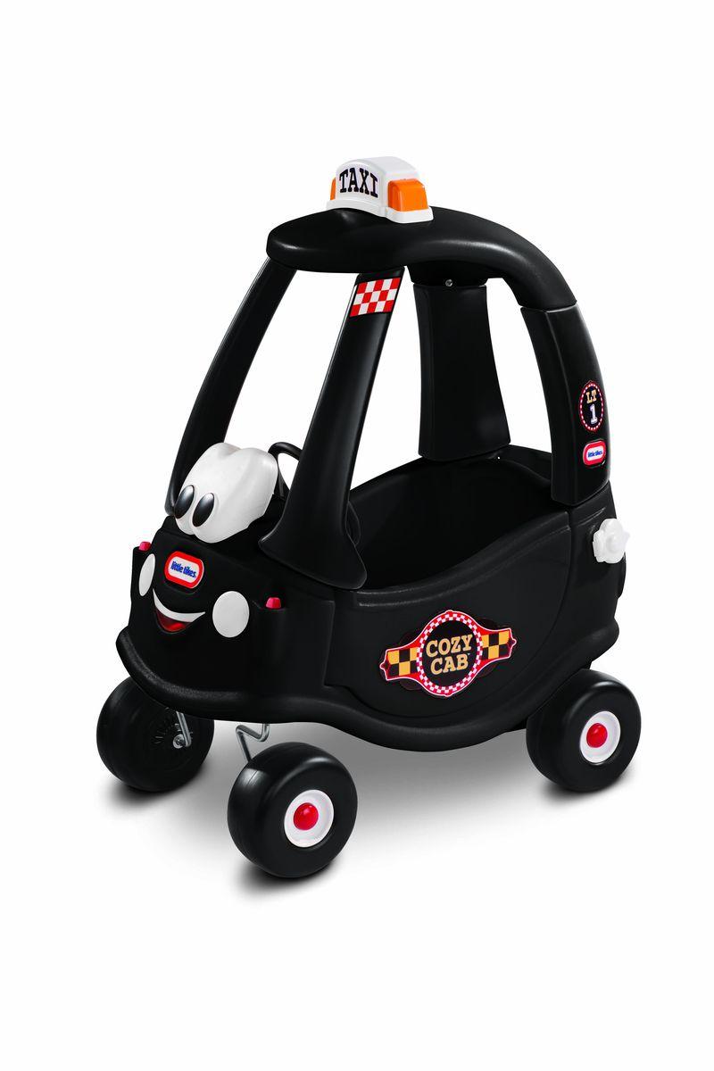 Little Tikes Каталка Такси цвет черный172182Любому ребенку понравится машинка с дружелюбным приветливым «лицом» и красивыми наклейками. Табличка «Taxi» на крыше. Съемная платформа и удобные ручки, за которую родители могут держать машинку и катать ребенка. Ящик с крышкой для игрушек. Ключ зажигания и бензобак с открывающейся крышкой. Симпатичные широкие колесики с протекторами . Размер машинки: 40,6 x 77,5 x 82,5см. Размер упаковки:73,7x39,4 x 40,6 см. Вес упаковки: 9.1 кг. Возраст: 1,5-5 лет.