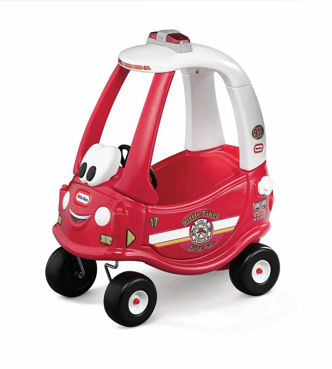Little Tikes Каталка Пожарная машина цвет красный17250218 мес. + Легендарная Каталка от Little Tikes расширяется новыми яркими и забавными моделями. Рабочий сигнал. У каталки съемное днище. Ручка, с помощью которой родители контролируют движение также снимается. Высокая спинка сиденья. Место для хранения игрушек. Панель приборов с ключом зажигания. Прочные колеса и хорошее сцепление.