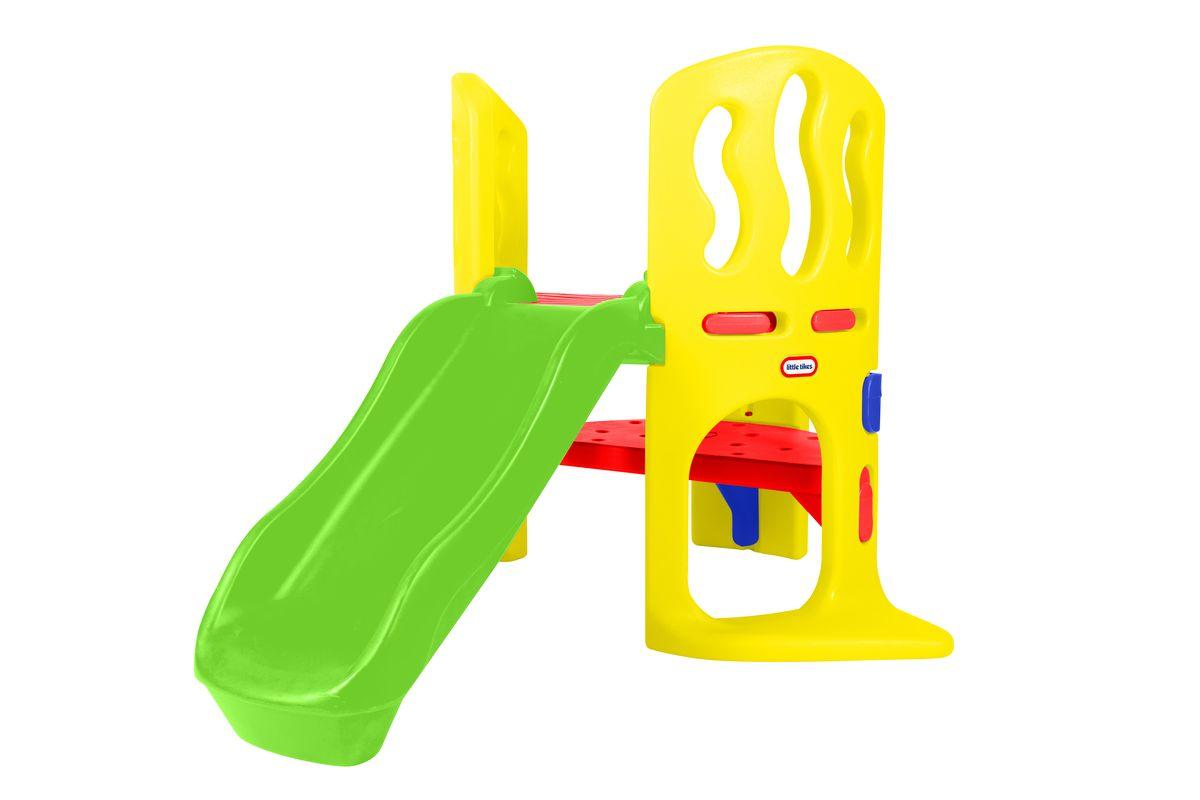 Little Tike Игровой комплекс 172809172809Мини игровой комплекс Little Tikes сделает игры детей еще интереснее и обеспечит вашему ребенку и его друзьям массу положительных эмоций во время катания. Горка изготовлена из ударопрочного пластика, устойчивого к ультрафиолетовому излучению. Многофункциональность горки позволяет не только кататься на ней, но и лазить словно по лабиринту, широкие ступеньки и прочная платформа,сопутствуют этому. Такая горка прекрасно впишется в летний дачный сад или дополнит игровую площадку.