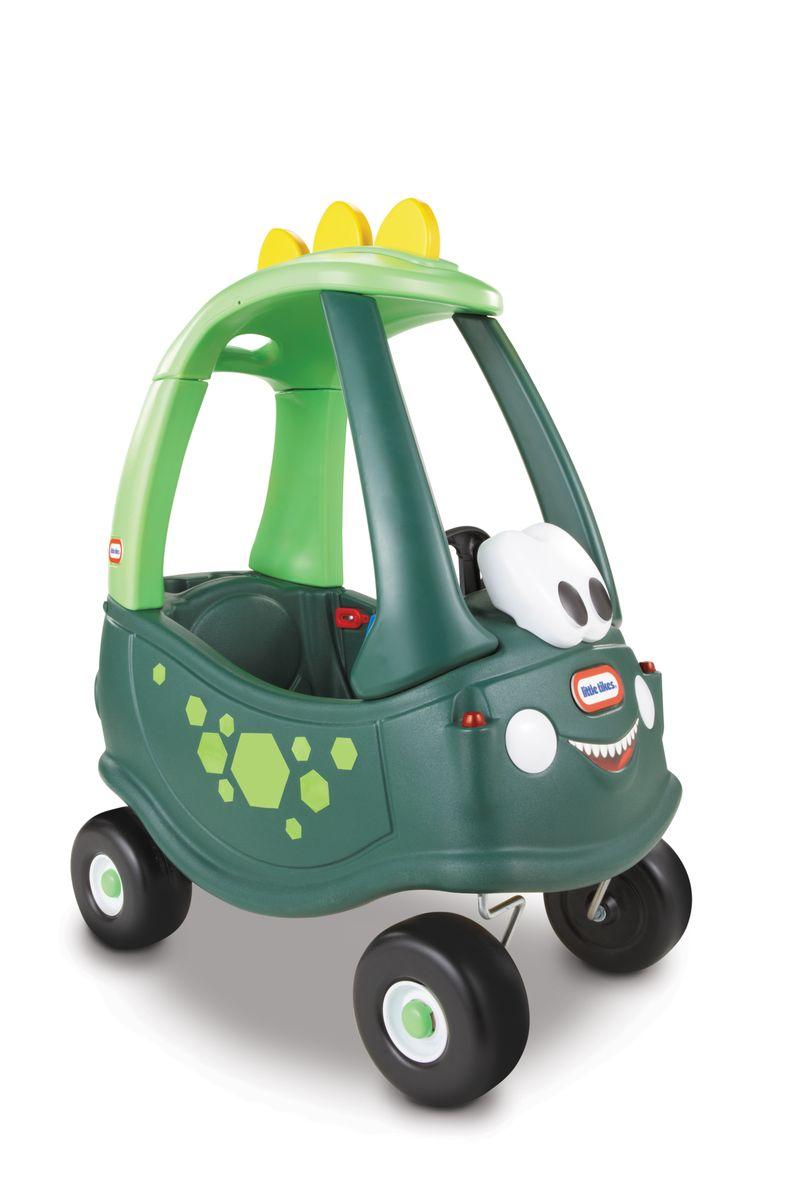 Little Tikes Каталка Дино цвет зеленый173073Забавная каталка Little Tikes Дино непременно понравится вашему ребенку. Каталка выполнена из яркого высококачественного пластика и выдерживает нагрузку до 23 кг. Игрушка оснащена рабочим сигналом, съемной ручкой с помощью которой родители контролируют движение ребенка, высокой спинкой сиденья, местом для хранения игрушек, панелью приборов зажигания, прочными колесами и хорошим сцеплением. Такая игрушка поможет вашему ребенку укрепить мышцы ног, а также развить реакцию, координацию и чувство равновесия. Порадуйте своего ребенка таким замечательным подарком!