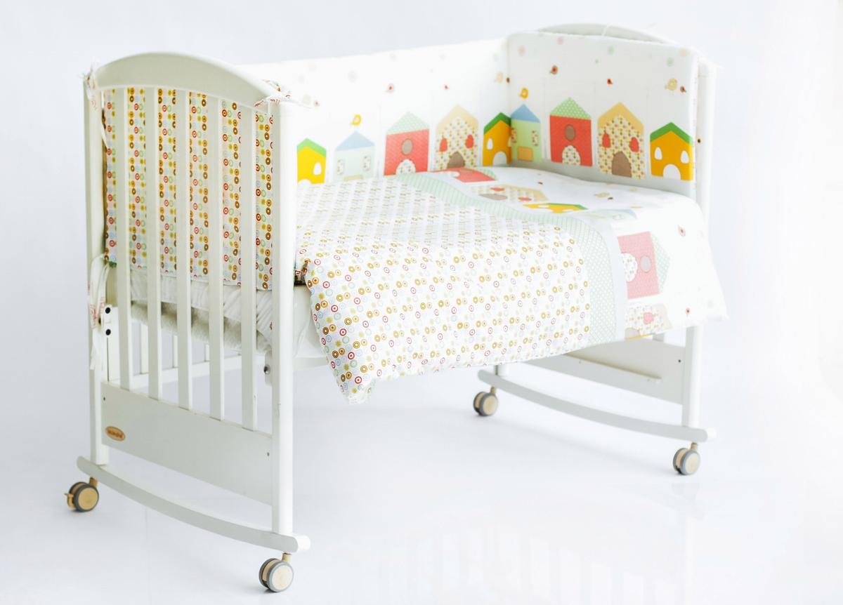 Rabby Baby Бортик для кровати Домики 360 см
