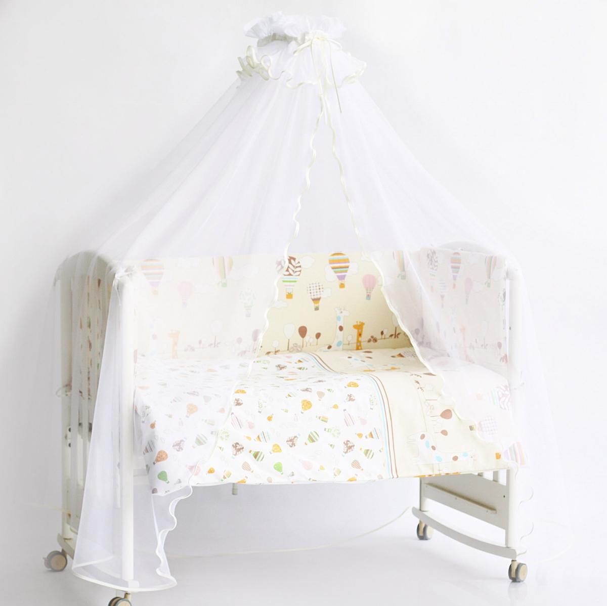 Rabby Baby Балдахин для детской кроваткиRB039/4Балдахин: высота 170 см, общая длина 4 м 50 см. Основной материал - сетка - полиэфир.