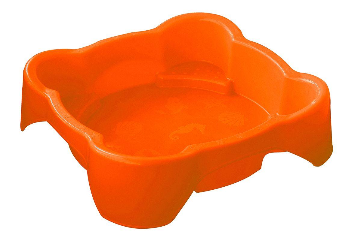 Marian Plast Песочница квадратная374Красочная песочница незаменима для игр на воздухе. Высокий бортик 25 см. Можно использовать как песочницу и как бассейн.