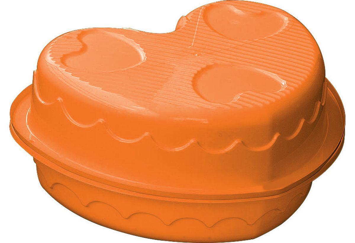 Marian Plast Песочница Сердечко435Песочница-бассейн Сердечко - прекрасно подойдет как для игры на улице, так и в закрытом помещении. Песочница состоит из 2-х частей, что позволяет закрывать ее от дождя.