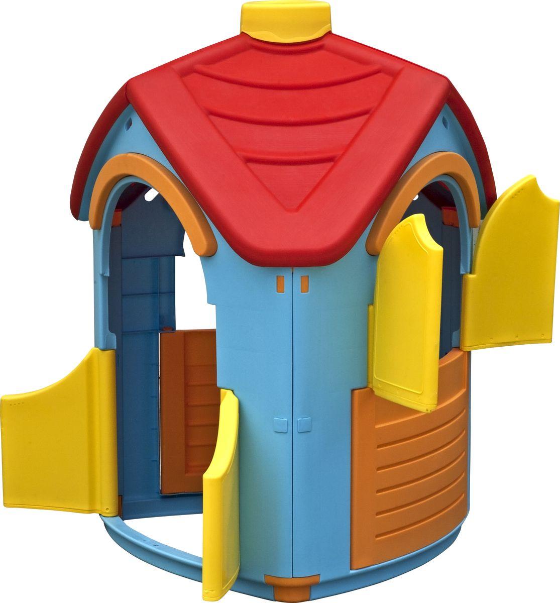 Marian Plast Игровой домик Вилла660Домик Вилла – уникальная игрушка. В нем ребенок становится хозяином собственного «сказочного мира». В процессе игры малыш примеряет на себя различные социальные роли, тем самым происходит первичный процесс адаптации Когда ребенок играет с друзьями, у него улучшается коммуникативный процесс, что также важно для будущей жизни. Домик сделан из качественного пластика. Имеет красочный дизайн, имитирующий «реальный дом». Удобная конструкция позволяет легко собирать домик, а также без труда размещать его как в квартире, так и на природе. Детали домика соединяются и закрепляются специальными пластиковыми гайками, которые входят в комплект; конструкция домика очень надёжная и устойчивая; вход с двумя дверками, при закрывании фиксирующимися снизу; два больших окошка, одно со ставенками, при закрывании фиксирующиеся снизу.