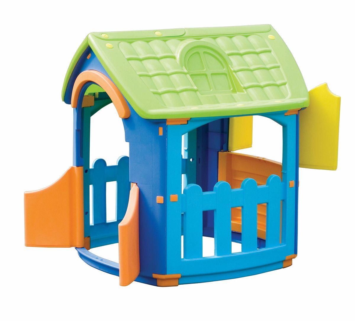 Marian Plast Домик разборный667Домик разборный – уникальная игрушка. В нем ребенок становится хозяином собственного «сказочного мира». В процессе игры малыш примеряет на себя различные социальные роли, тем самым происходит первичный процесс адаптации Когда ребенок играет с друзьями, у него улучшается коммуникативный процесс, что также важно для будущей жизни. Домик сделан из качественного пластика. Имеет красочный дизайн, имитирующий «реальный дом». Удобная конструкция позволяет легко собирать домик, а также без труда размещать его как в квартире, так и на природе. Детали домика соединяются и закрепляются специальными пластиковыми гайками, которые входят в комплект; конструкция домика очень надёжная и устойчивая; вход с двумя открывающимися дверками; три больших окошка в доме, одно со ставенками, и два на террасе.