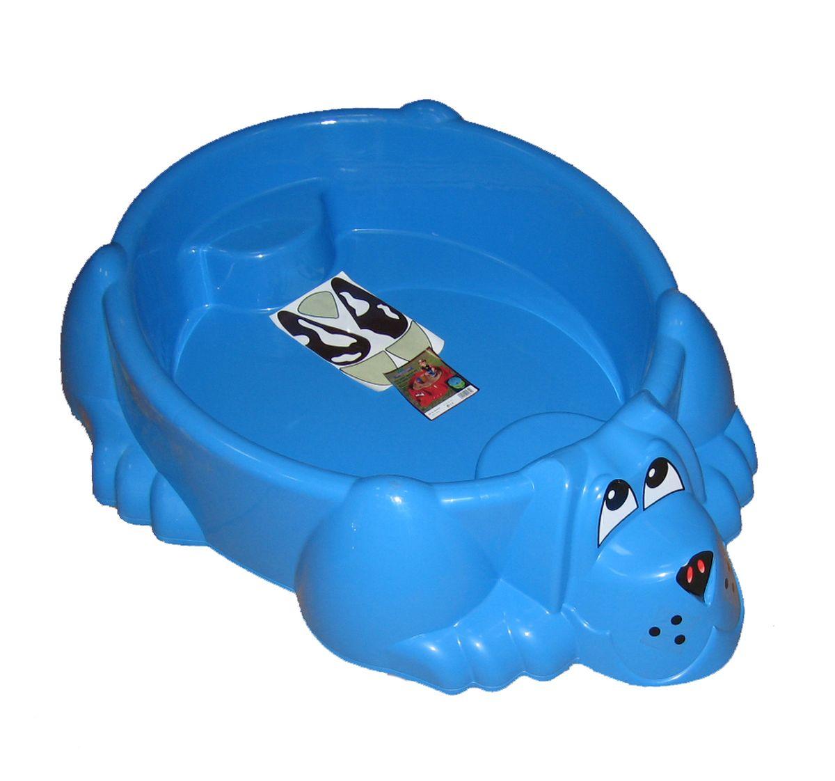 Marian Plast Бассейн Собачка цвет синий373_синийНе знаете что подарить ребенку: бассейн или песочницу? Не нужно делать выбор. Оригинальный бассейн-песочница Собачка обязательно понравится ребенку. Теперь ребенок решает сам: строить ему куличики из песка или купаться в воде. Песочница-бассейн прекрасно подойдет для летнего отдыха детей, и обеспечит бесконечные часы радости и веселья.