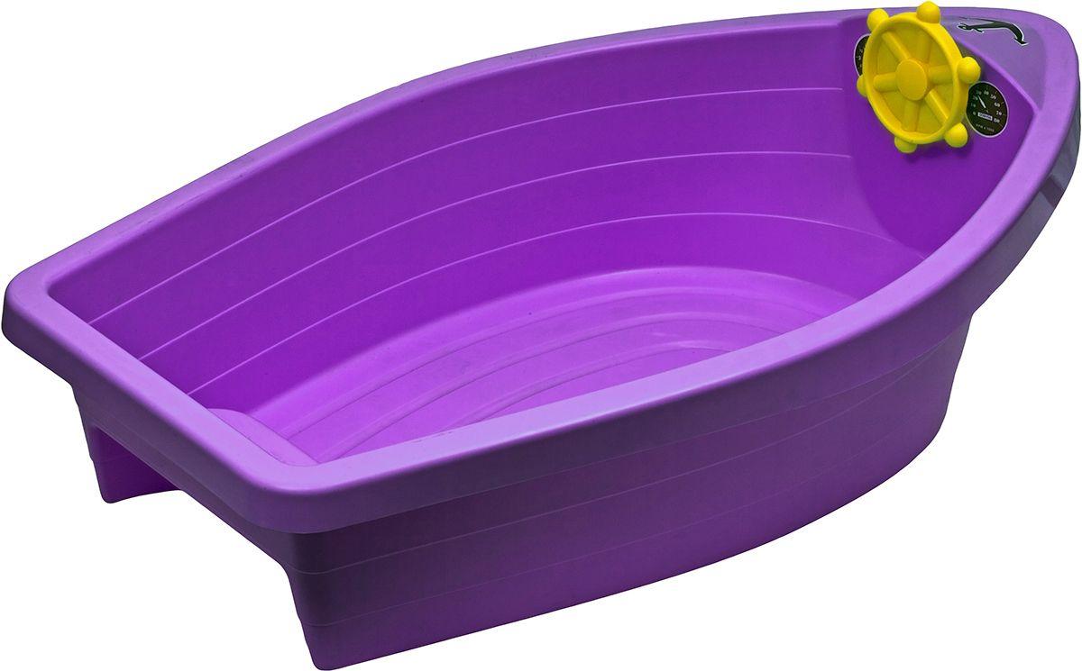 Marian Plast Бассейн Лодочка цвет сиреневый308_сиреневыйПесочница-бассейн Лодочка — идеальный вариант для дачного отдыха. Ее можно наполнить песком или водой. Лодочка подарит бесконечные часы радости вашим детям.