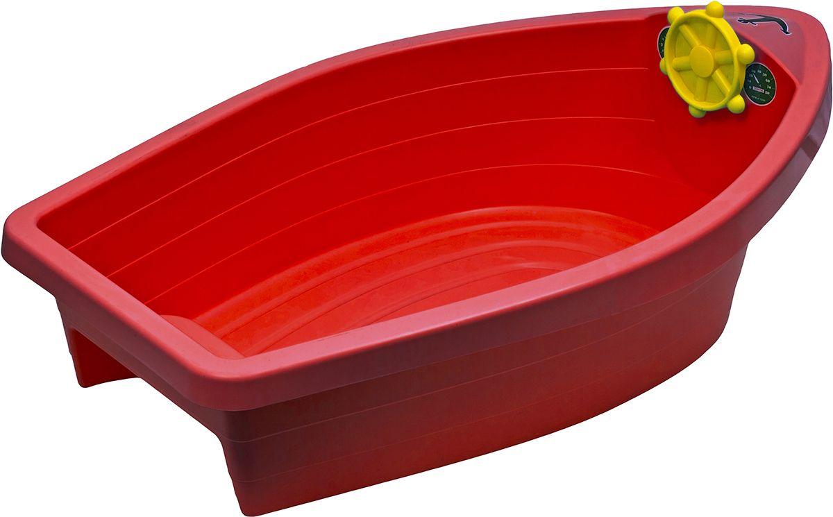 Marian Plast Бассейн Лодочка цвет красный308_красныйПесочница-бассейн Лодочка — идеальный вариант для дачного отдыха. Ее можно наполнить песком или водой. Лодочка подарит бесконечные часы радости вашим детям.