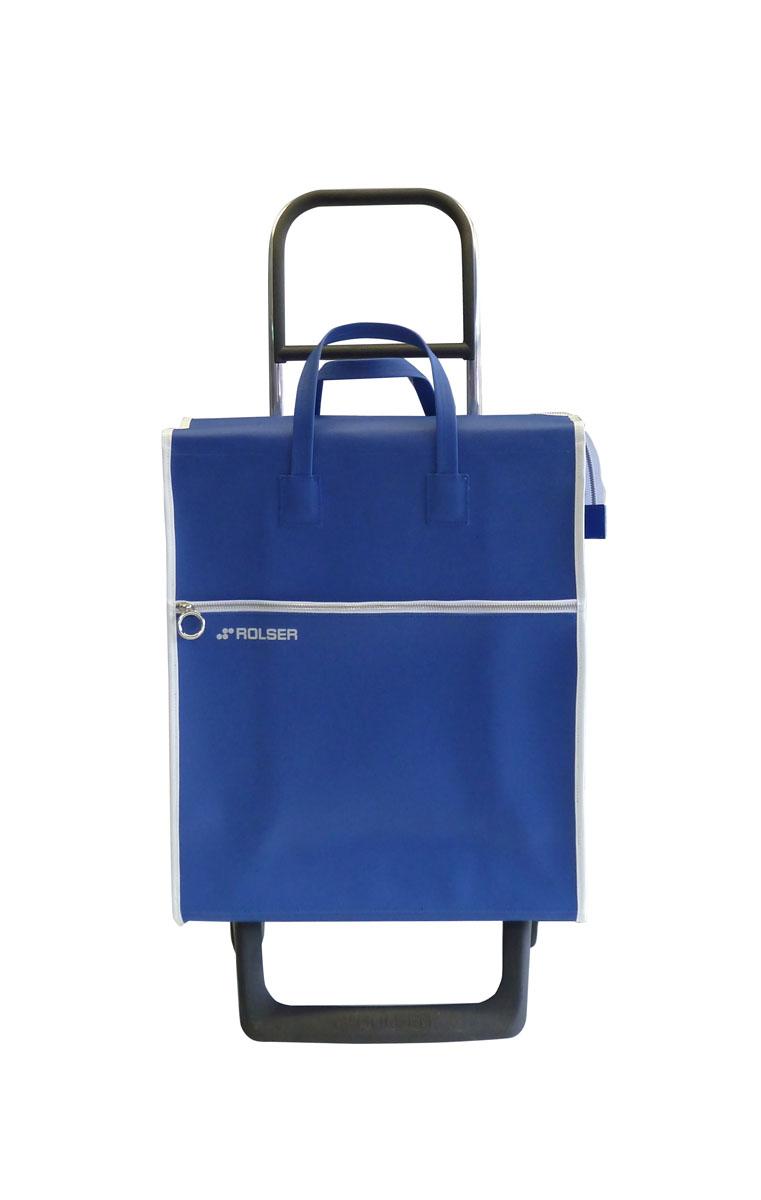 Сумка хозяйственная Rolser, на колесиках, цвет: azul, 36 лMNL001 azulАлюминиевая тележка для покупок с 2 колесами, диаметр колес 13,2 см, колеса резина EVA. Эргономичная ручка, складываемая передняя подставка. Сумка имеет форму рюкзака, объем 36 л, ткань полиэстер, влагоустойчивая, имеет удобное закрытие сумки и легко крепиться на раме. Тележка не складывается. Рекомендованная нагрузка 25 кг, чистка ручная или химчистка.