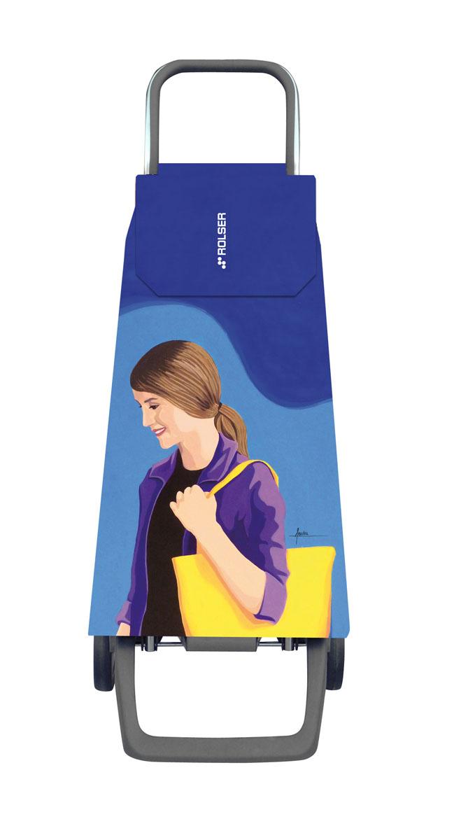Сумка хозяйственная Rolser, на колесиках, цвет: azul-lois, 45 лJET029 azul-loisАлюминиевая тележка для покупок с 2 колесами, диаметр колес 13,2 см, колеса резина EVA. Эргономичная ручка, складываемая передняя подставка. Сумка имеет форму рюкзака, объем 45 л, ткань полиэстер, влагоустойчивая, имеет удобное закрытие сумки и легко крепится на раме. Тележка не складывается. Рекомендованная нагрузка 25 кг, чистка ручная или химчистка.