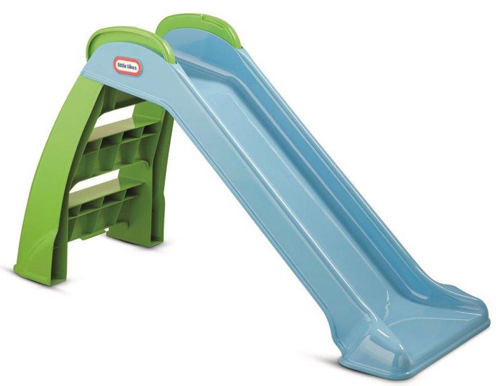 Little Tikes Горка складная цвет зеленый синий172403Яркая складная горка Little Tikes сделает игры детей еще интереснее и обеспечит вашему ребенку и его друзьям массу положительных эмоций во время катания. Горка изготовлена из ударопрочного высококачественного пластика, с опорами и имеет две ступеньки, удобные ручки и невысокие бортики-перила. На этой горке можно кататься не только летом, но и зимой, при температуре не ниже -18°. Горка очень легко складывается и занимает совсем мало места, благодаря чему ее очень удобно хранить. Такая горка прекрасно впишется в летний дачный сад или дополнит игровую площадку.