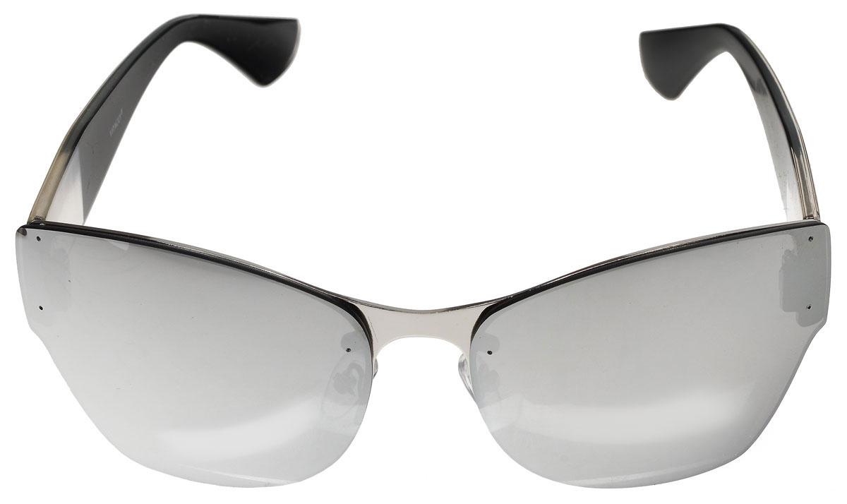 Очки солнцезащитные женские Vitacci, цвет: черный, прозрачный, серебряный. H63H63Стильные солнцезащитные очки Vitacci выполнены из металла с элементами из высококачественного пластика. Линзы данных очков имеют степень затемнения С3, а также обладают высокоэффективным поляризационным покрытием со степенью защиты от ультрафиолетового излучения UV400. Используемый пластик не искажает изображение, не подвержен нагреванию и вредному воздействию солнечных лучей. Оправа очков легкая, прилегающей формы, дополнена носоупорами и поэтому обеспечивает максимальный комфорт. Такие очки защитят глаза от ультрафиолетовых лучей, подчеркнут вашу индивидуальность и сделают ваш образ завершенным.