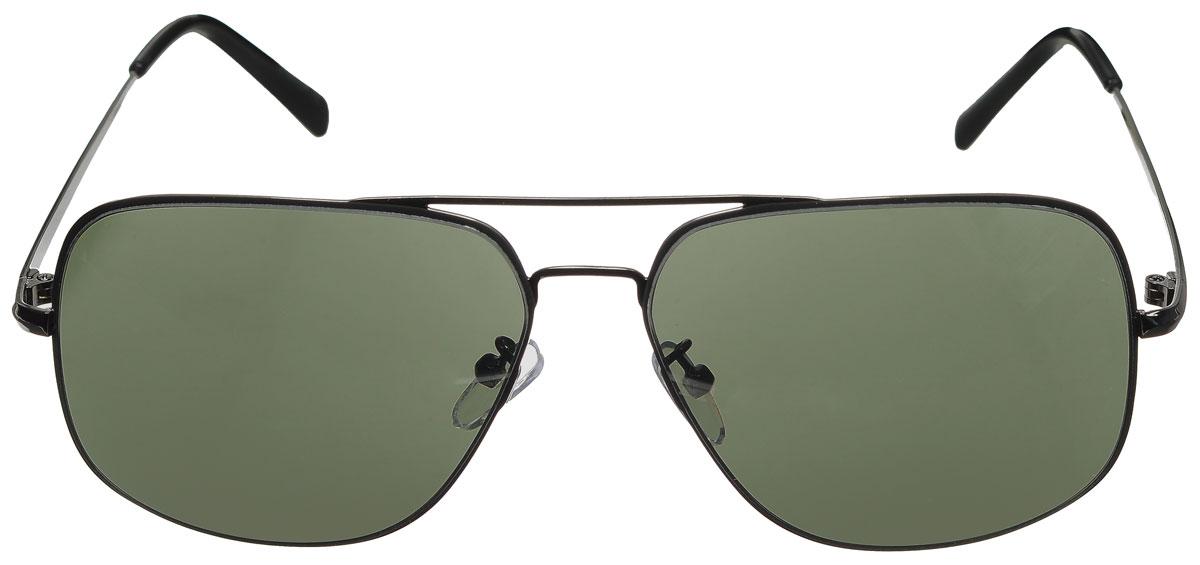 Очки солнцезащитные женские Vitacci, цвет: черный. G162G162Стильные солнцезащитные очки Vitacci выполнены из металла с элементами из высококачественного пластика. Линзы данных очков имеют степень затемнения С1, а также обладают высокоэффективным поляризационным покрытием со степенью защиты от ультрафиолетового излучения UV400. Используемый пластик не искажает изображение, не подвержен нагреванию и вредному воздействию солнечных лучей. Оправа очков легкая, прилегающей формы, дополнена носоупорами и поэтому обеспечивает максимальный комфорт. Такие очки защитят глаза от ультрафиолетовых лучей, подчеркнут вашу индивидуальность и сделают ваш образ завершенным.